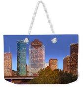 Houston Texas Skyline At Dusk Weekender Tote Bag