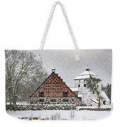 Hovdala Castle Gatehouse And Stables In Winter Weekender Tote Bag