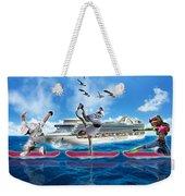Hoverboarding Across The Atlantic Ocean Weekender Tote Bag