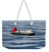 Hovercraft On Frozen Artic Ocean Weekender Tote Bag