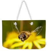 Hoverfly In Flight Weekender Tote Bag