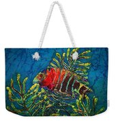 Hovering - Red Banded Wrasse Weekender Tote Bag