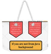 How Much Java Knowledge Is Required To Learn Hadoop? Weekender Tote Bag