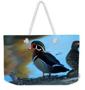 How Much Wood Could A Wood Duck Chuck Weekender Tote Bag