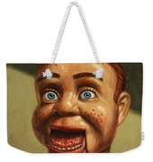 Howdy Doody Dodged A Bullet Weekender Tote Bag by James W Johnson
