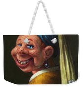 Howdy With A Pearl Earring Weekender Tote Bag