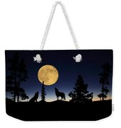 Howling At The Moon Weekender Tote Bag