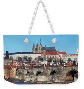 Hradcany - Cathedral Of St Vitus And Charles Bridge Weekender Tote Bag