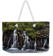 Hraunfossar In The Gloom Weekender Tote Bag