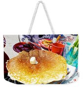 Hub Cap Pancakes At Loulou's On The Commercial Pier In Monterey-california  Weekender Tote Bag