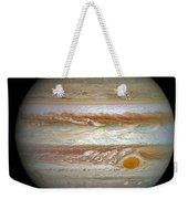 Hubble Captures Vivid Auroras In Jupiter's Atmosphere Weekender Tote Bag
