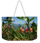 Huckleberry Flowers Atop Huckleberry Mountain In Glacier National Park Montana Weekender Tote Bag