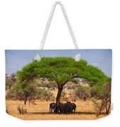 Huddled In Shade Weekender Tote Bag