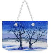 Huddled On A Snowy Field.  Weekender Tote Bag