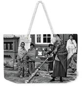 Huff And Puff Bw Weekender Tote Bag
