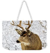 Huge Buck Deer In The Snowy Woods Weekender Tote Bag