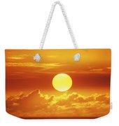 Huge Orange Sun Weekender Tote Bag