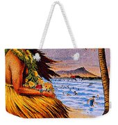 Hula Flower Girl 1915 Weekender Tote Bag