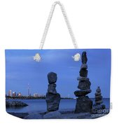 Human Figures Made From Stones At Night Weekender Tote Bag