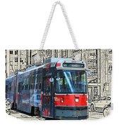 Humber Bound Streetcar On Queen Street Weekender Tote Bag