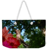 Hummers And Colored Daisies Weekender Tote Bag