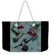 Hummers And Fuchsia Weekender Tote Bag