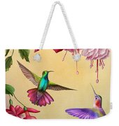 Humming Birds And Fuchsia-jp2784 Weekender Tote Bag