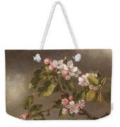 Hummingbird And Apple Blossoms Weekender Tote Bag