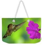 Hummingbird And Flower Weekender Tote Bag