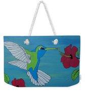 Hummingbird And Flowers Weekender Tote Bag