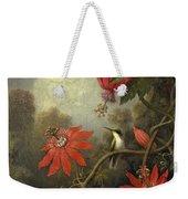 Hummingbird And Passionflowers Weekender Tote Bag