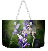 Hummingbird And Purple Lupine  Weekender Tote Bag