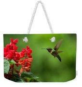 Hummingbird And Scarlet Sage Weekender Tote Bag