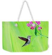 Hummingbird And Sweet Peas Weekender Tote Bag