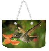 Hummingbird And The Monkey Flowers Weekender Tote Bag