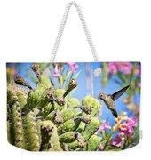 Hummingbird And The Saguaro  Weekender Tote Bag