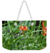 Hummingbird And Tiger Lilly Weekender Tote Bag