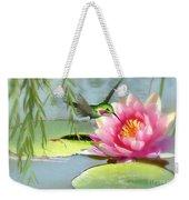 Hummingbird And Water Lily Weekender Tote Bag