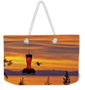 Hummingbird At Sunset. Weekender Tote Bag