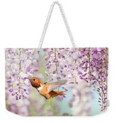 Hummingbird At Wisteria Weekender Tote Bag