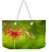 Hummingbird Bee Balm And Textures Weekender Tote Bag