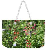 Hummingbird Drinking From Red Trumpet Vine Weekender Tote Bag