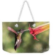 Hummingbird Enjoying Beautiful Flower Weekender Tote Bag