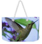 Hummingbird In Butterfly Bush Weekender Tote Bag