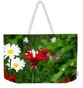 Hummingbird In Flowers Weekender Tote Bag