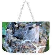 Hummingbird In Nest 2 Weekender Tote Bag