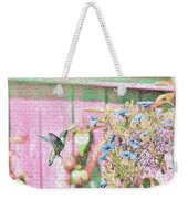 Hummingbird In The Garden Weekender Tote Bag