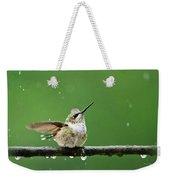 Hummingbird In The Rain Weekender Tote Bag
