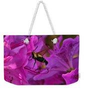 Hummingbird Moth On Azalea Weekender Tote Bag