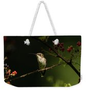 Hummingbird On Blackberry Bush Weekender Tote Bag